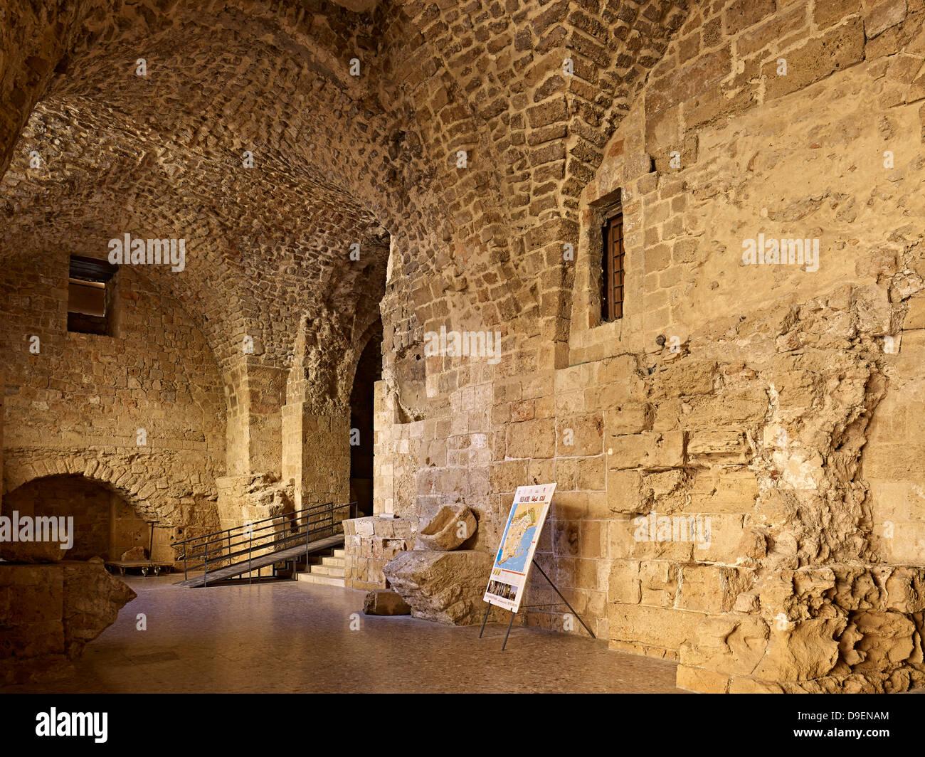 Citadelle de Acre, Israël Photo Stock