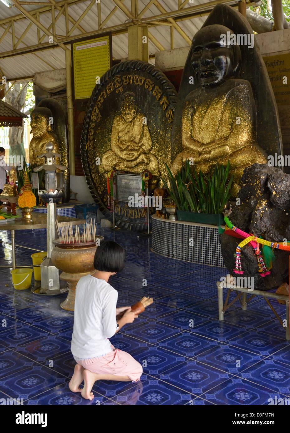 Wat Huay Monkol, un lieu de pèlerinage et une attraction touristique près de Hua Hin, Thaïlande, Asie du Sud-Est Banque D'Images
