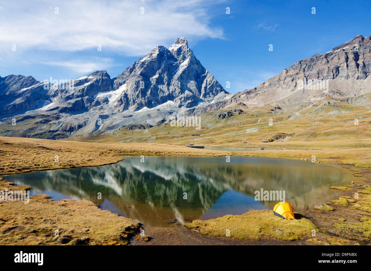 Monte Cervino (le Cervin), Breuil Cervinia, vallée d'Aoste, Alpes italiennes, Italie Banque D'Images