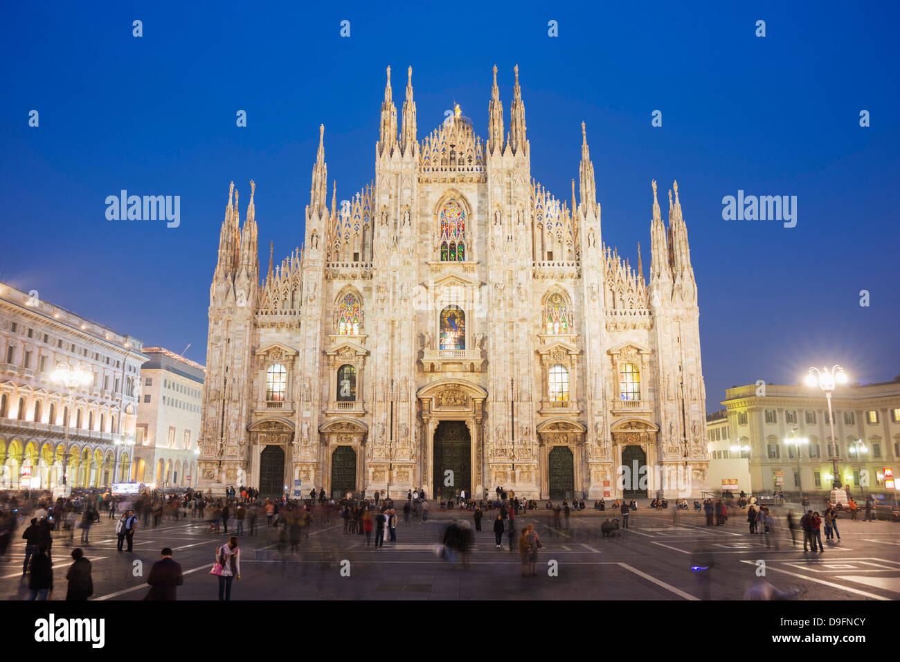 La cathédrale de Milan (Duomo), Milan, Lombardie, Italie Photo Stock