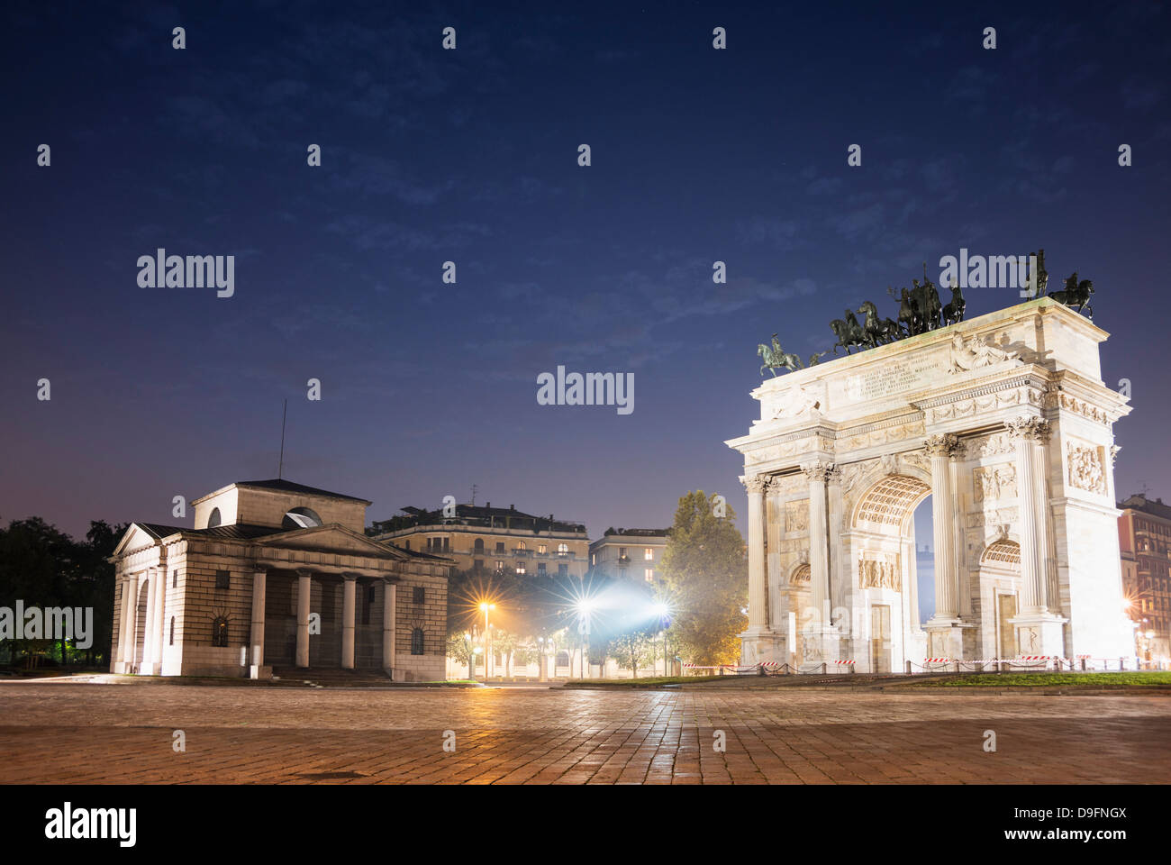 Arco della Pace, Milan, Lombardie, Italie Photo Stock