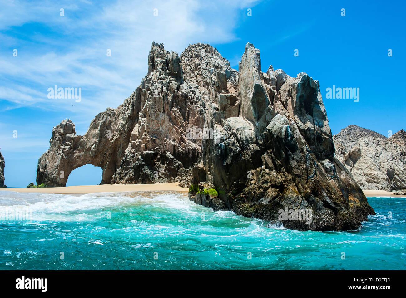 Lands End rock formation, Los Cabos, Baja California, Mexique Photo Stock