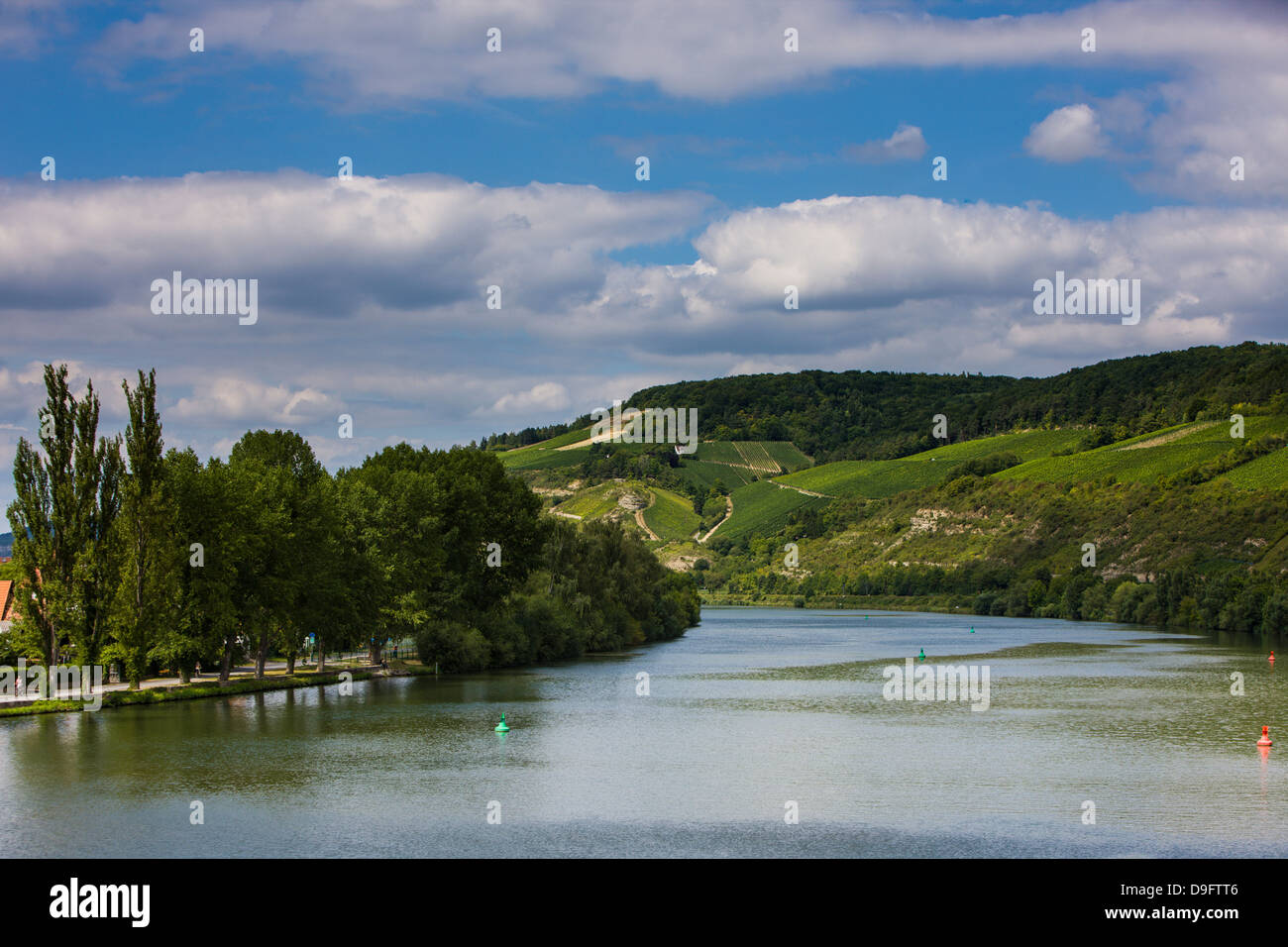 La vallée principale, Franconia, Bavaria, Germany Photo Stock