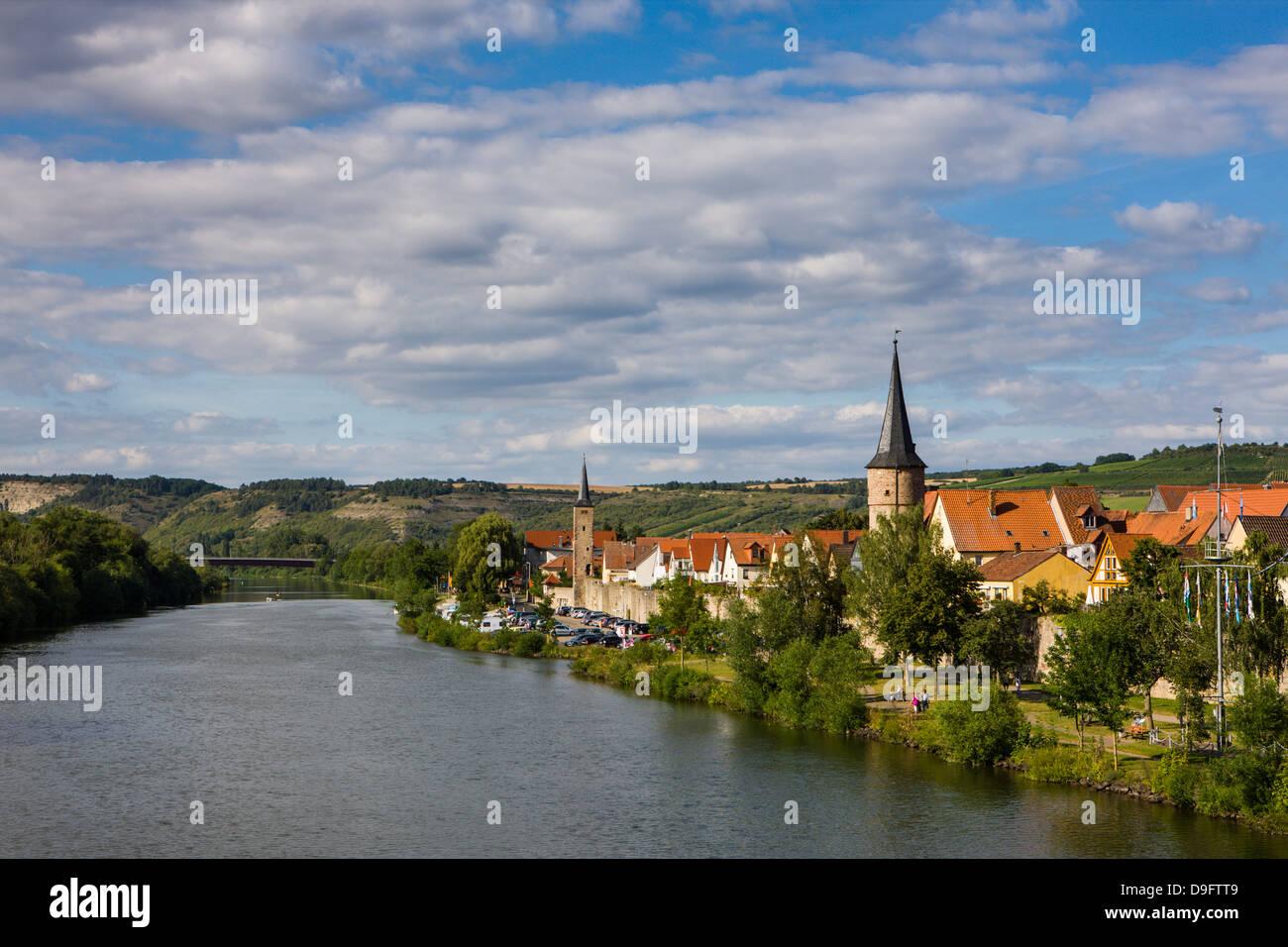 Lohr am Main dans la vallée principale, Franconia, Bavaria, Germany Photo Stock