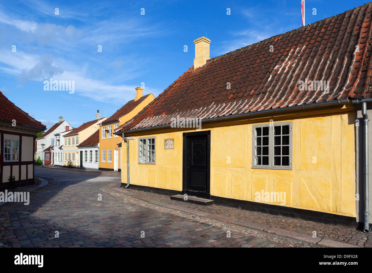 La maison de Hans Christian Andersen, Odense, Fionie, Danemark, Scandinavie Photo Stock