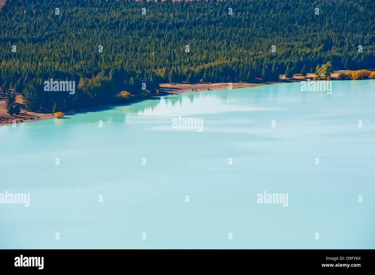 Le Lac Tekapo, Région des lacs du Sud, Canterbury, île du Sud Nouvelle-Zélande Photo Stock