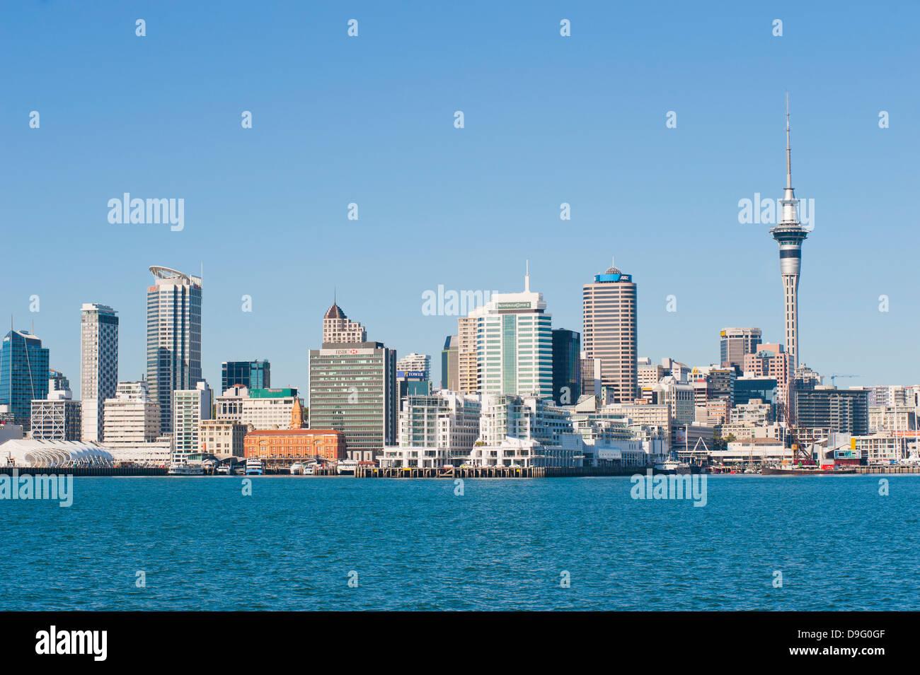 Auckland City skyline, île du Nord, Nouvelle-Zélande Banque D'Images