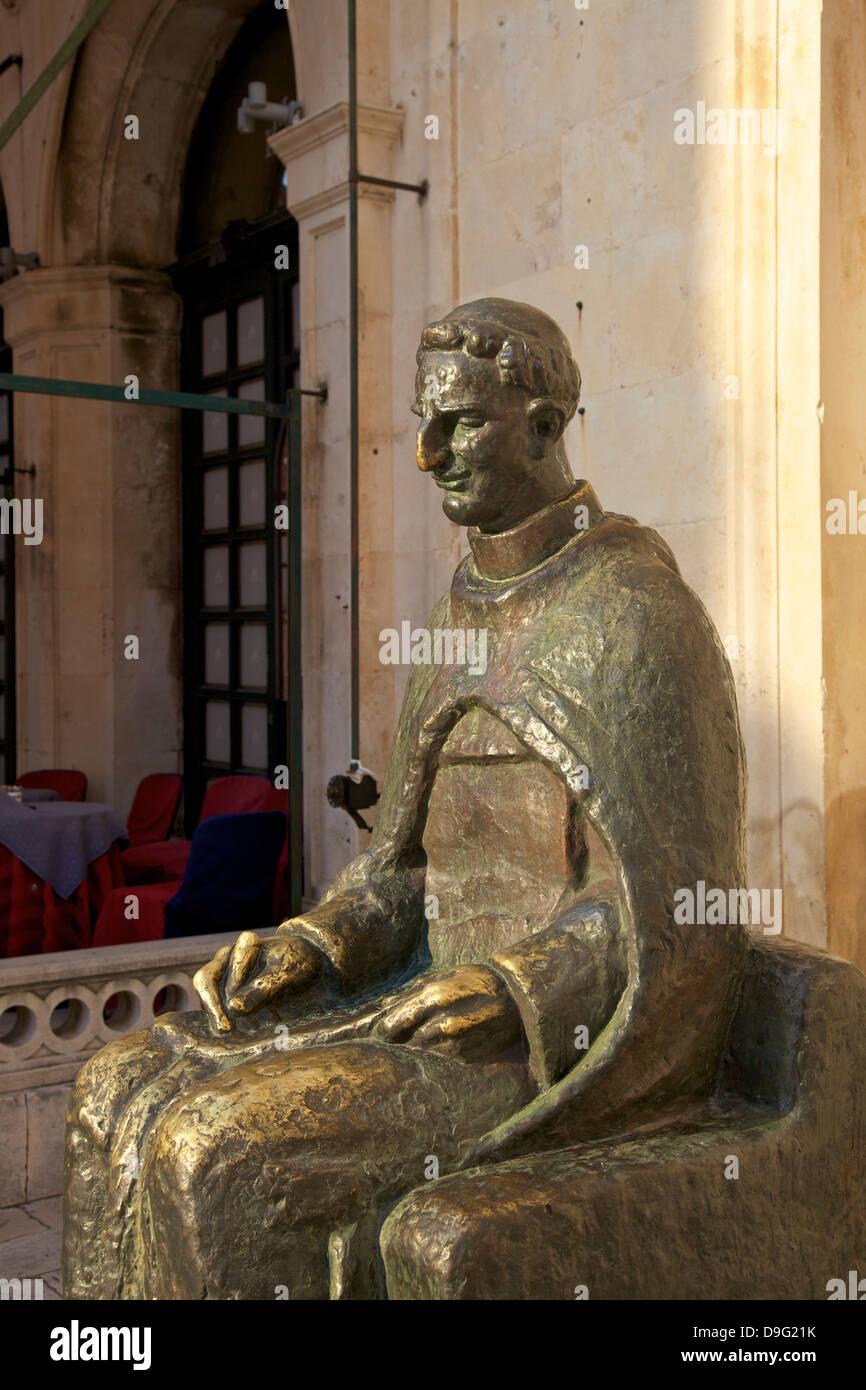 Statue de Marin Drzic, Dubrovnik, Croatie Photo Stock
