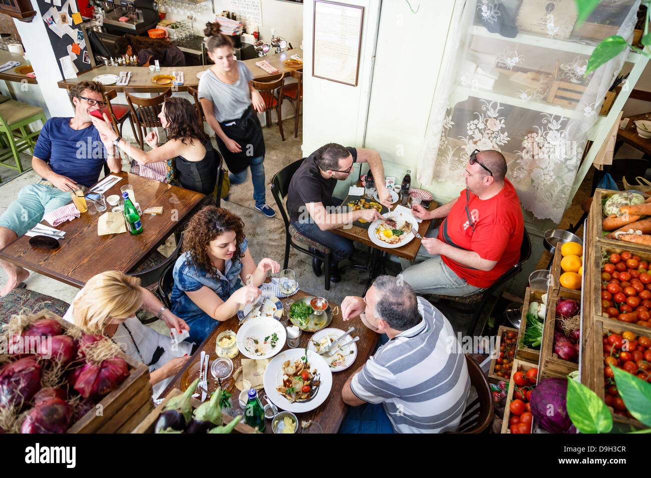 Restaurant Machneyuda, Jérusalem, Israël. Photo Stock