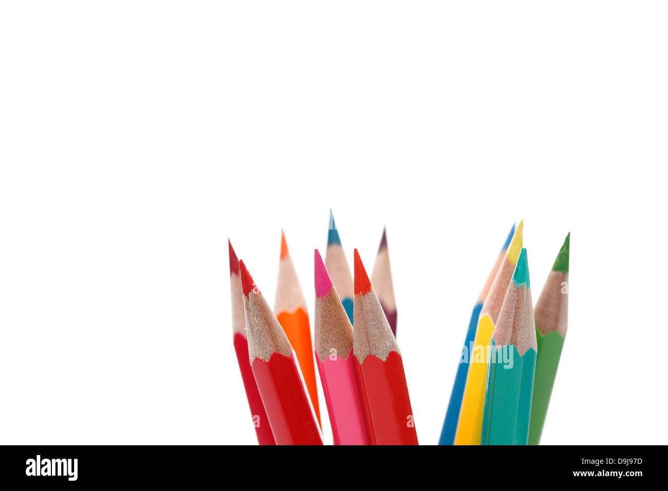 Un crayon de couleur. Photo Stock