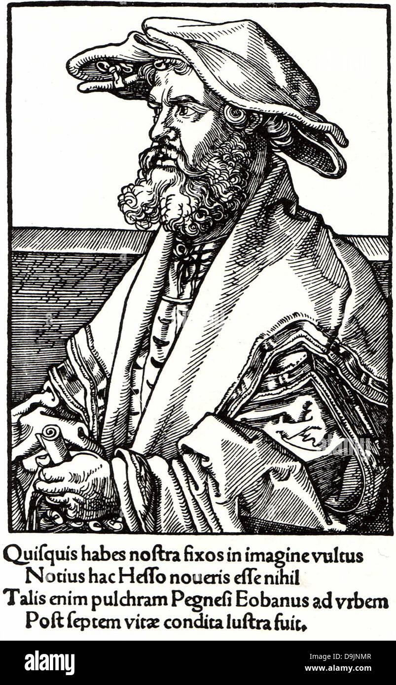 EOBANUS HESSUS (1488-1540) poète allemand qui a écrit en latin Photo Stock