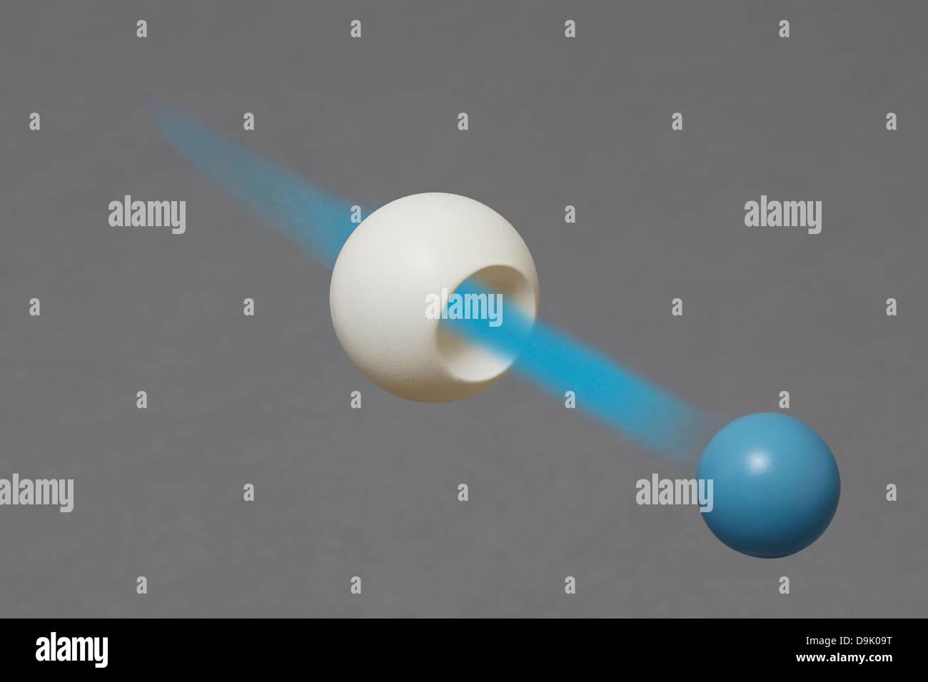 Boson de Higgs donne une masse de particules. Photo Stock