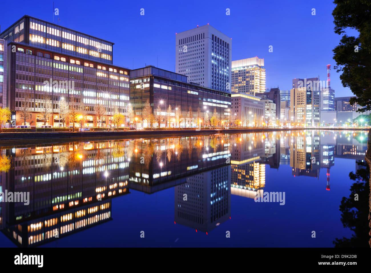 Quartier d'affaires de Marunouchi de Tokyo, Japon. Photo Stock