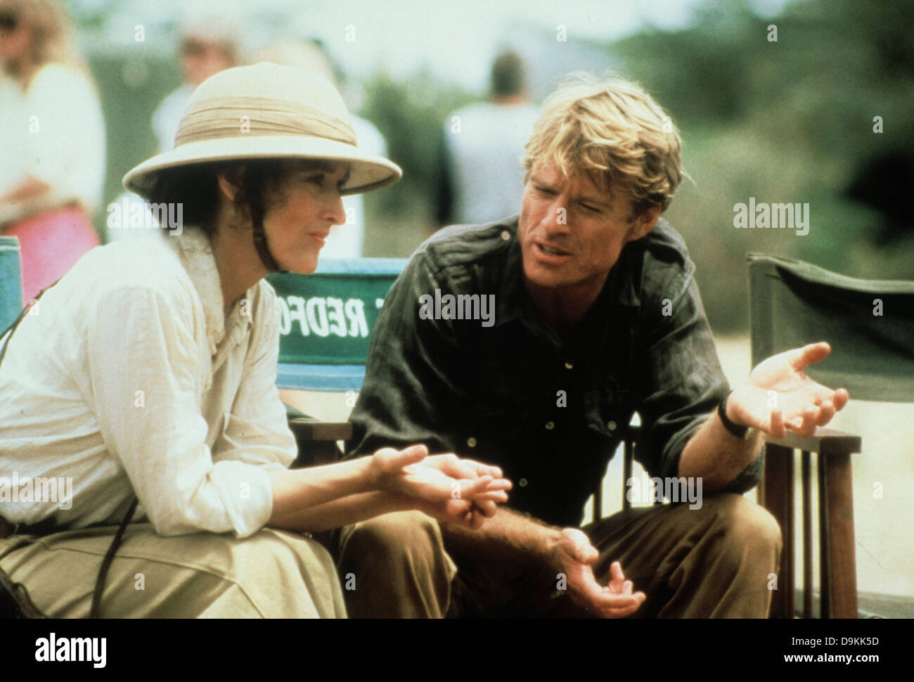 Robert Redford et Meryl Streep hors de l'Afrique 1985 Photo Stock