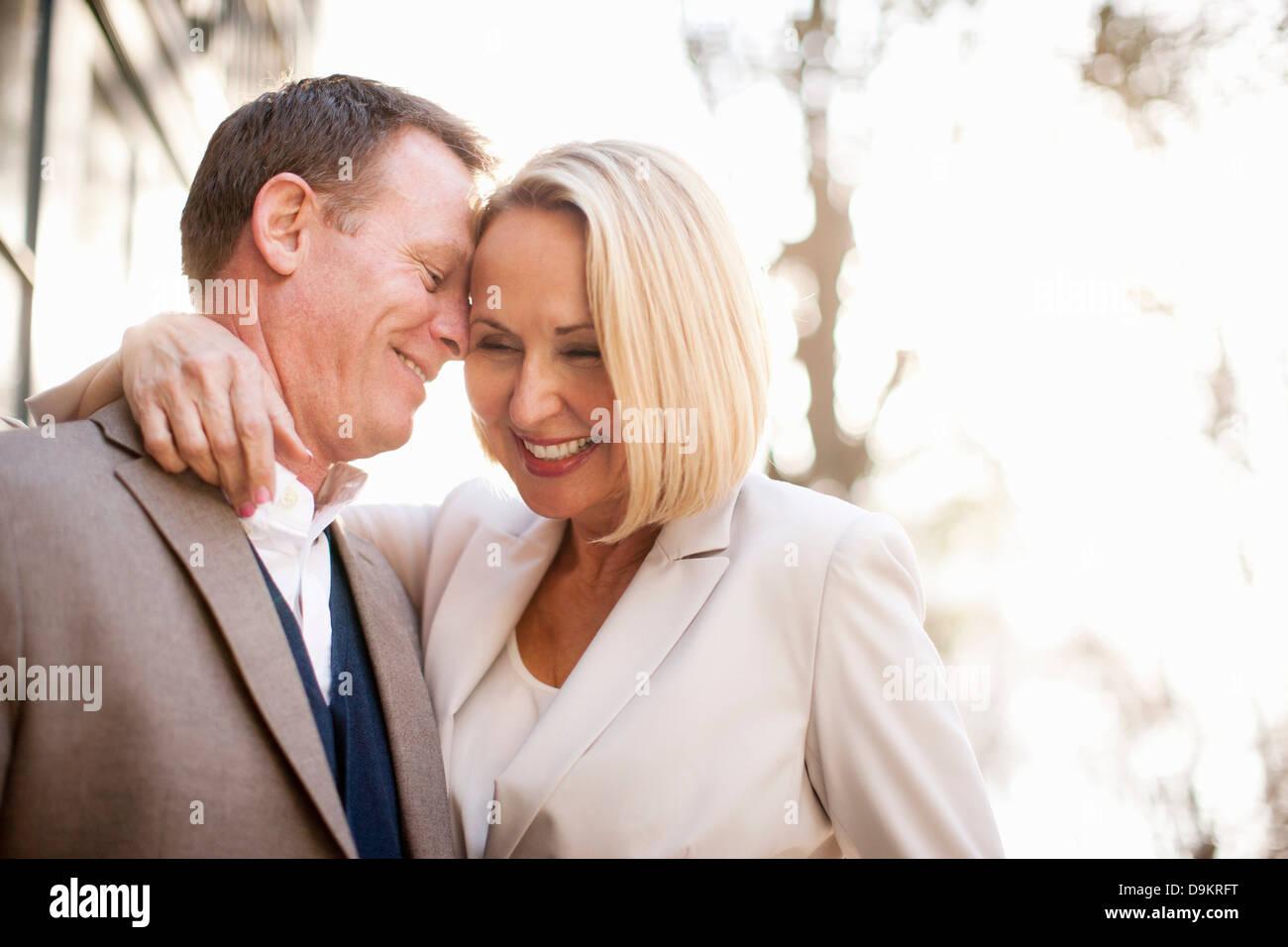 Heureux couple hétérosexuel Photo Stock