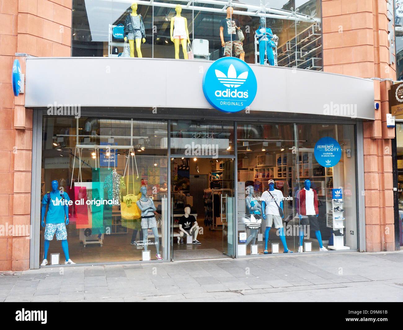 Adidas sport shop à Liverpool UK Banque D'Images, Photo