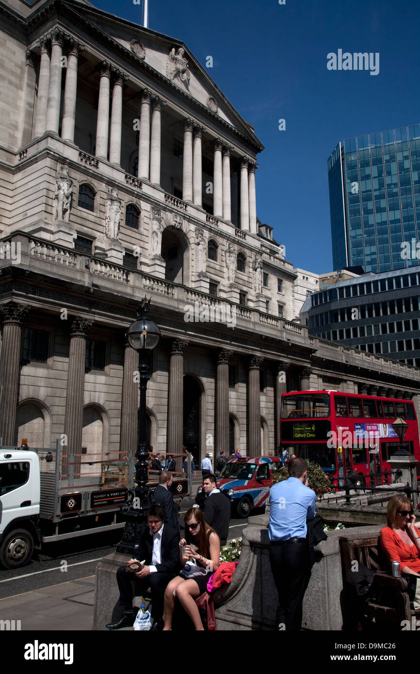 Banque d'angleterre ville de London England Photo Stock