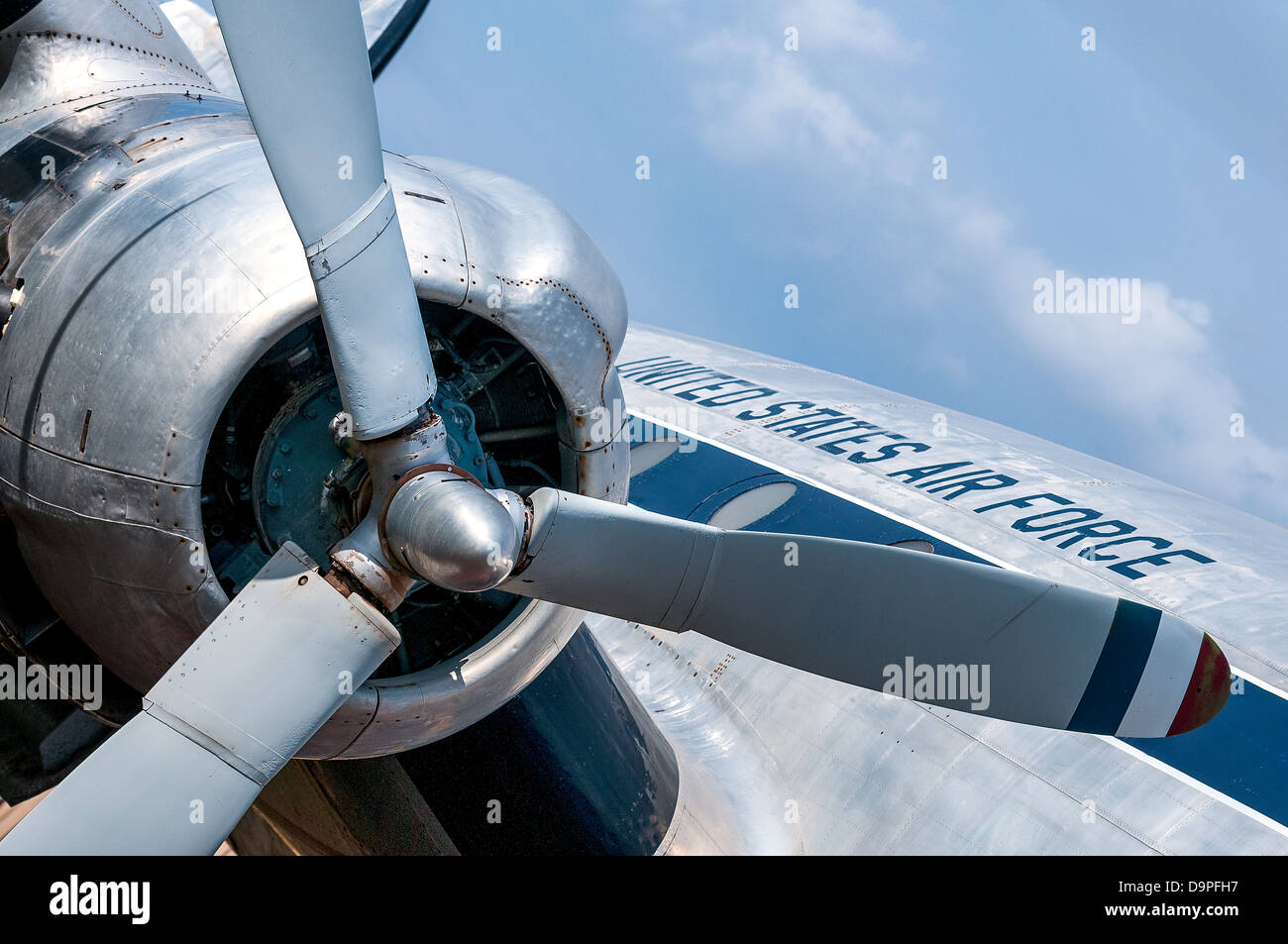 Vieux airplaine, aviation amercica airforce Photo Stock