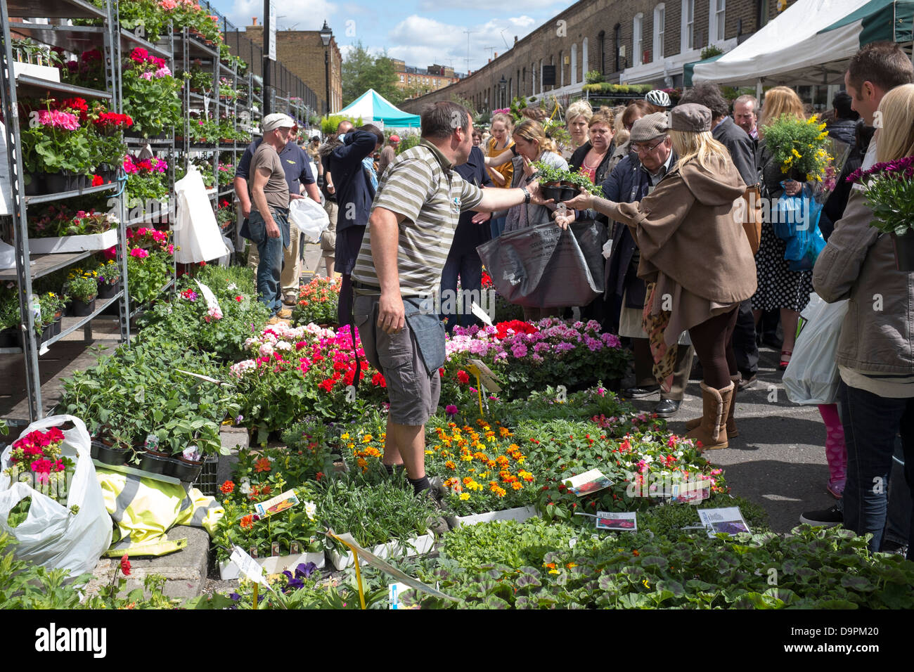 Columbia Road Flower Market Londres Photo Stock