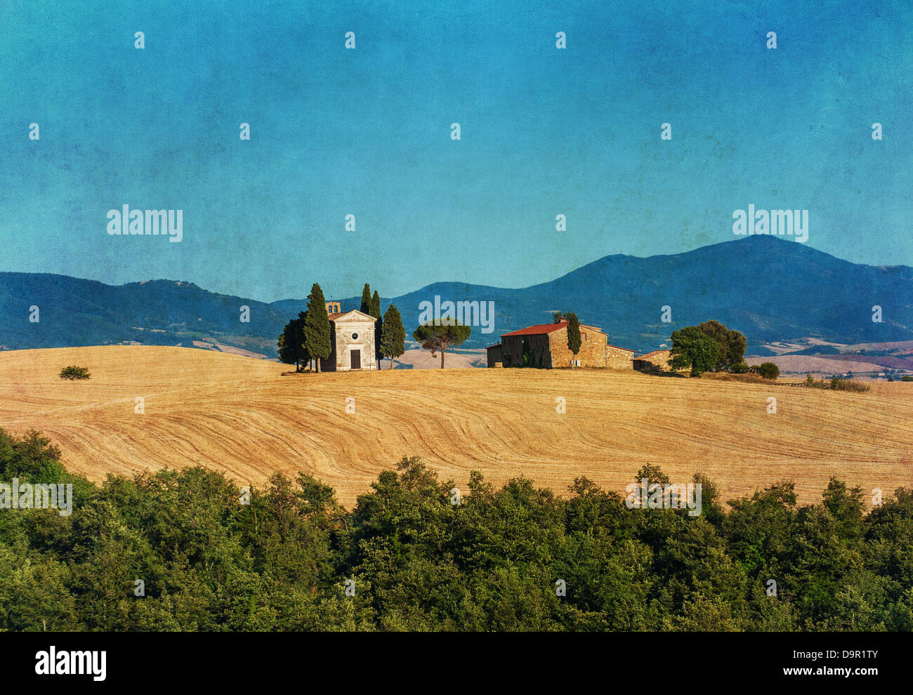 Paysage toscan vintage Photo Stock
