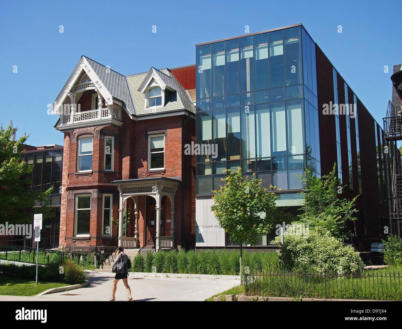 Université de Toronto, maison ancienne avec plus moderne ...