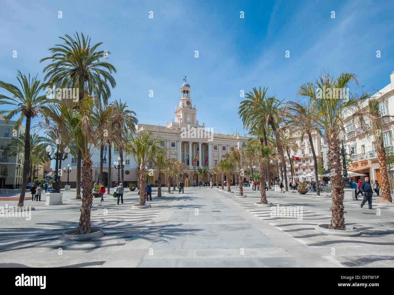 Ancien hôtel de ville de Cadix, Espagne Banque D'Images