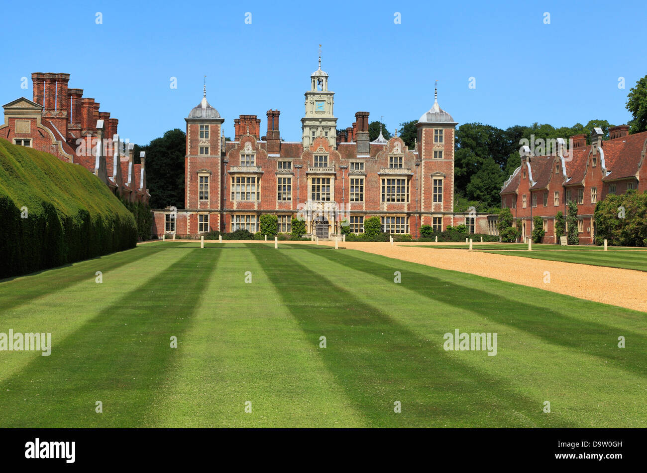 Blickling Hall, Norfolk, Angleterre, 17e siècle manoir jacobéen, anglais stately home homes Banque D'Images