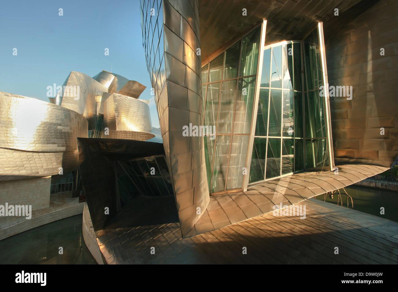 Guggenheim Museum, Bilbao, Espagne, Architecte: Frank Gehry Banque D'Images