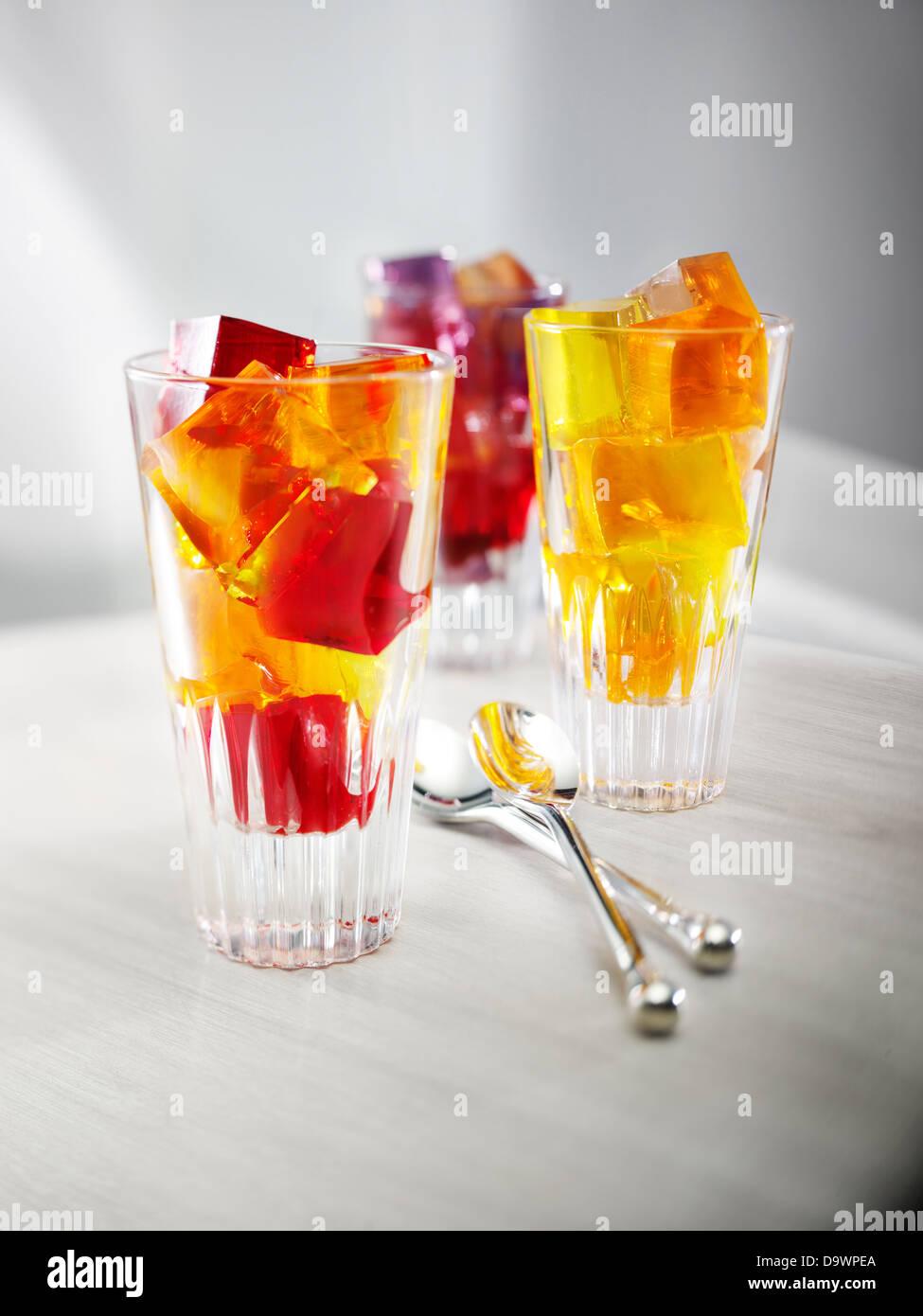 Tasses de Jello Photo Stock