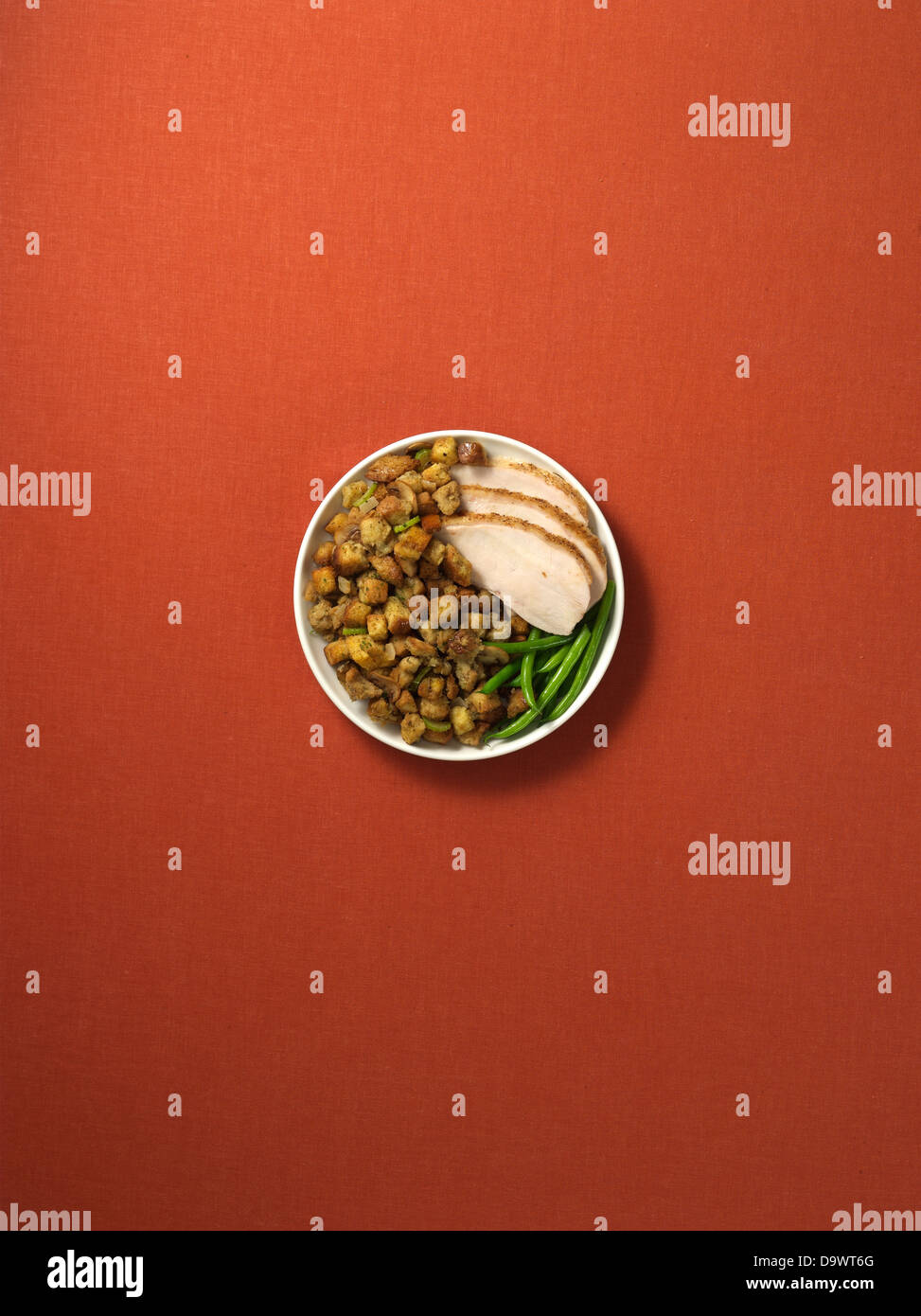 Assiette à dîner Photo Stock