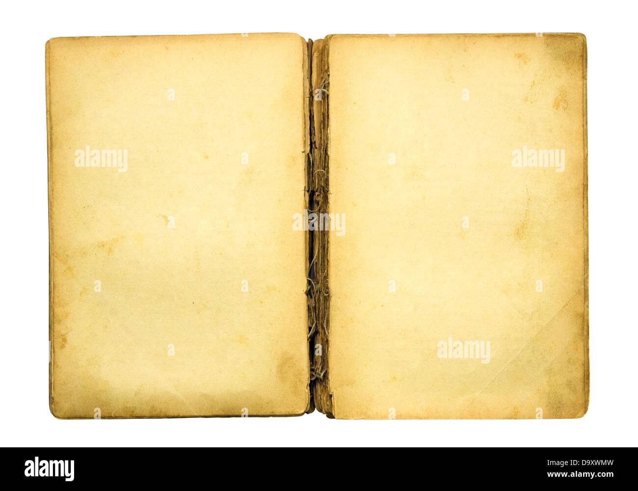 Vieux Livre Vierge Avec Chemin De Detourage Banque D Images