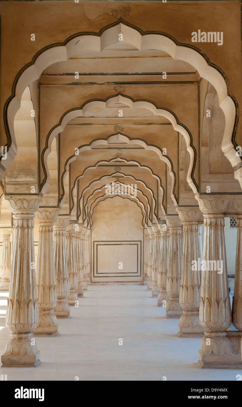 Arch passsage au Fort Amber, Jaipur, Inde Photo Stock