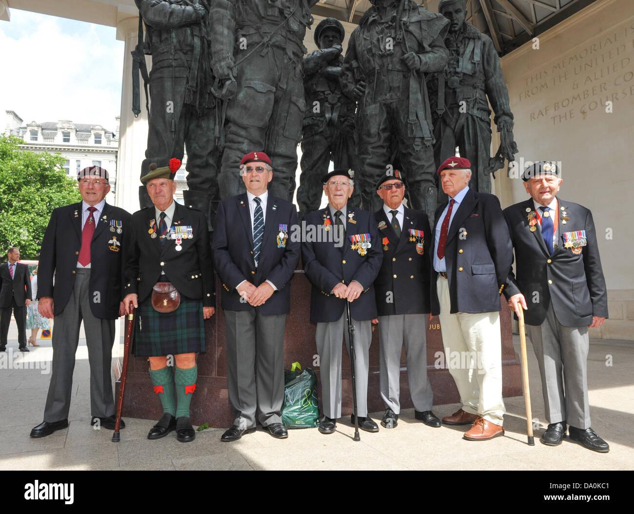 Green Park, London, UK. 30 juin 2013. Vieux camarades à l'événement commémoratif pour le Photo Stock