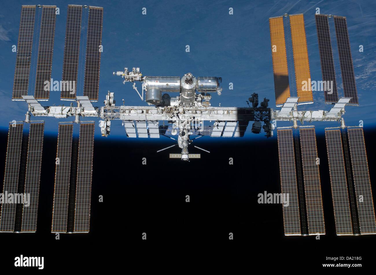 L'amélioration de l'image de l'ordinateur de la NASA La Station spatiale internationale (ISS), Photo Stock