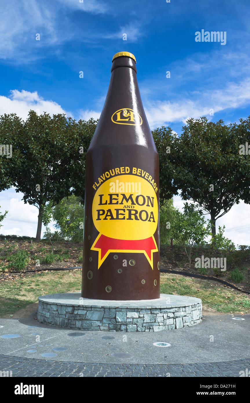 Dh PAEROA Nouvelle-zélande Gaint et citron boisson Paeroa célèbre en Nouvelle Zélande Photo Stock