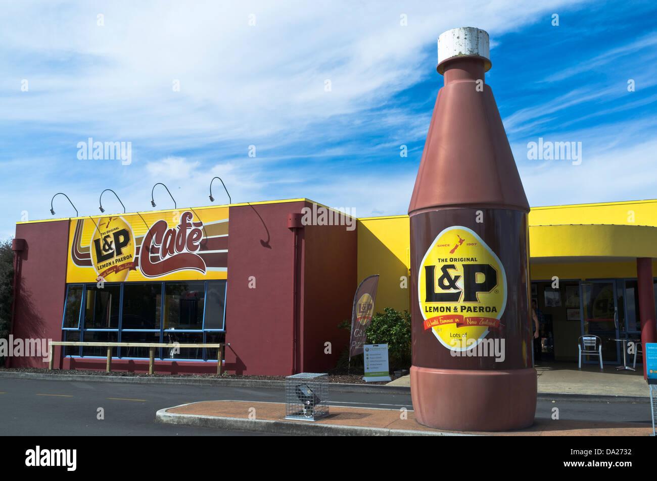 Dh PAEROA Nouvelle-zélande Citron et Paeroa cafe Photo Stock