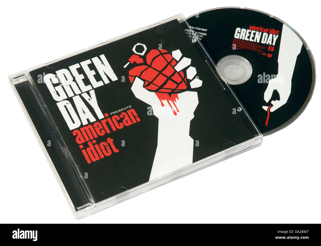 Green Day American idiot sur CD Photo Stock