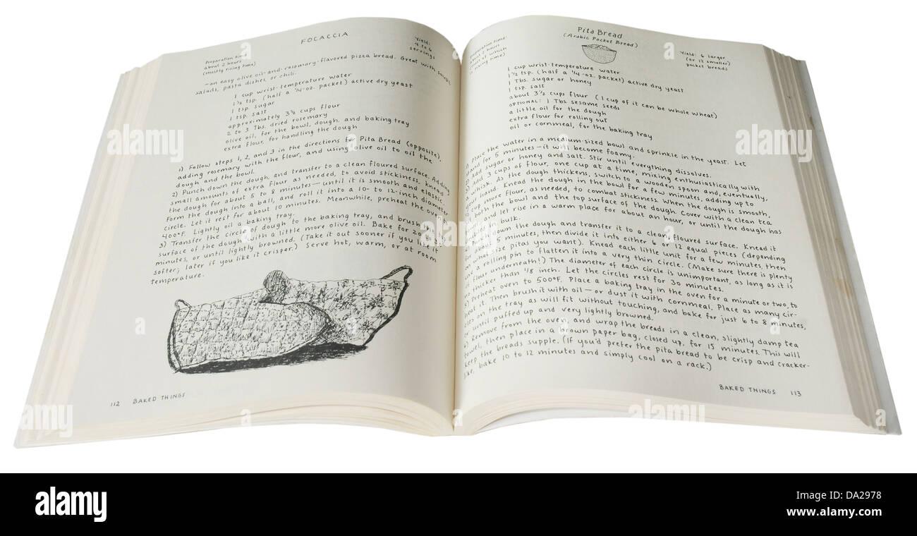 Le fameux Moosewood Cookbook végétarien par Mollie Katzen Photo Stock