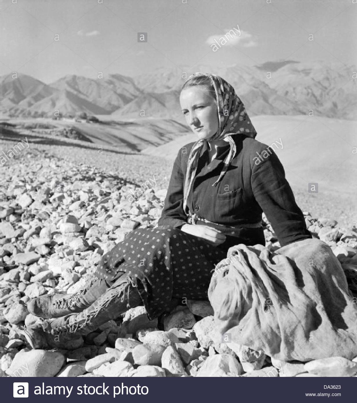 Évacuation des civils polonais de l'Union soviétique à la Perse, 1942 E19031 Photo Stock