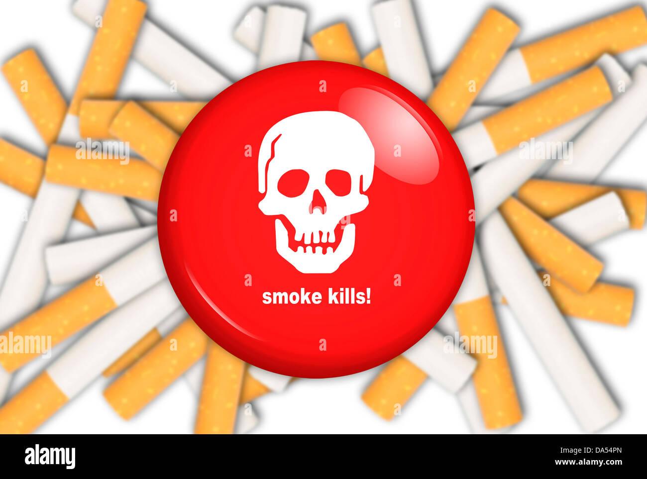 Fumer tue concept Photo Stock