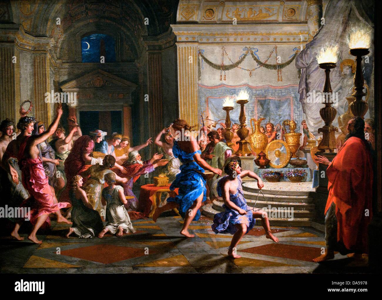 L'adoration des idoles 1650 Salomon Jacques Stella 1596-1657 Français France Photo Stock