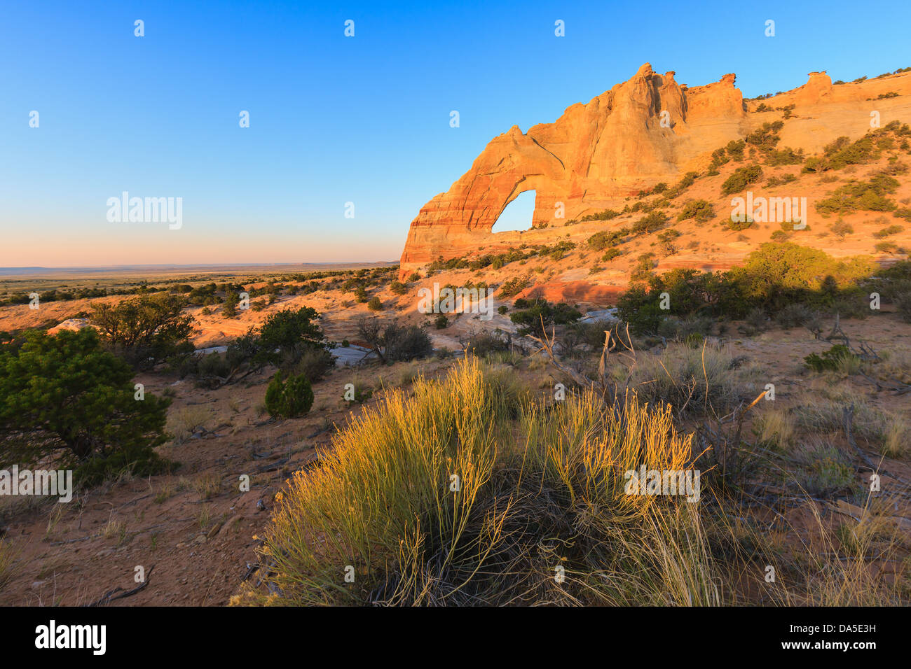 White Mesa Arch, dans le nord-est de l'Arizona, USA Photo Stock