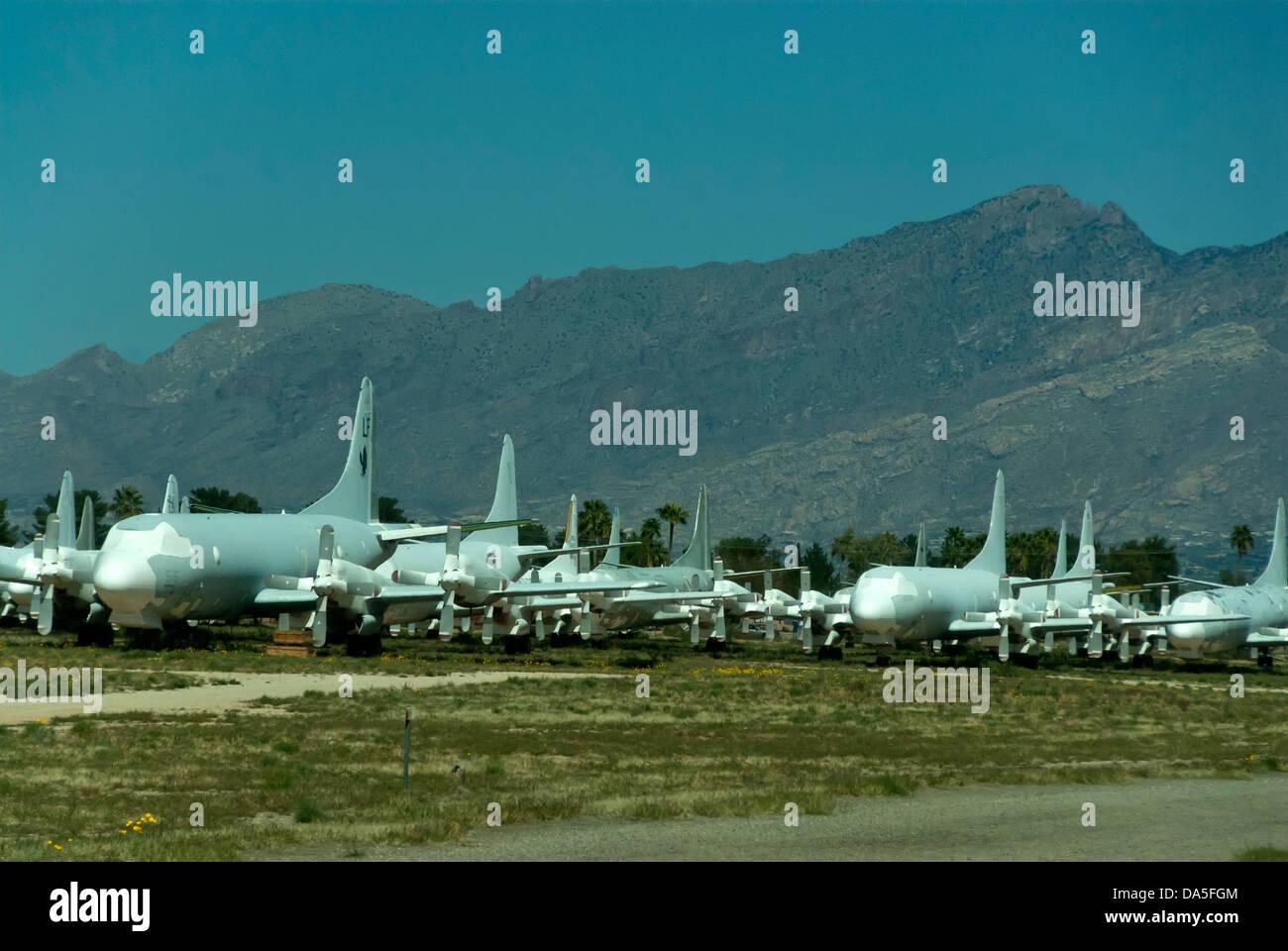 Cimetiere Avion Usa bone yard, plus grand, d'aéronefs, cimetière, davis monthan,, air