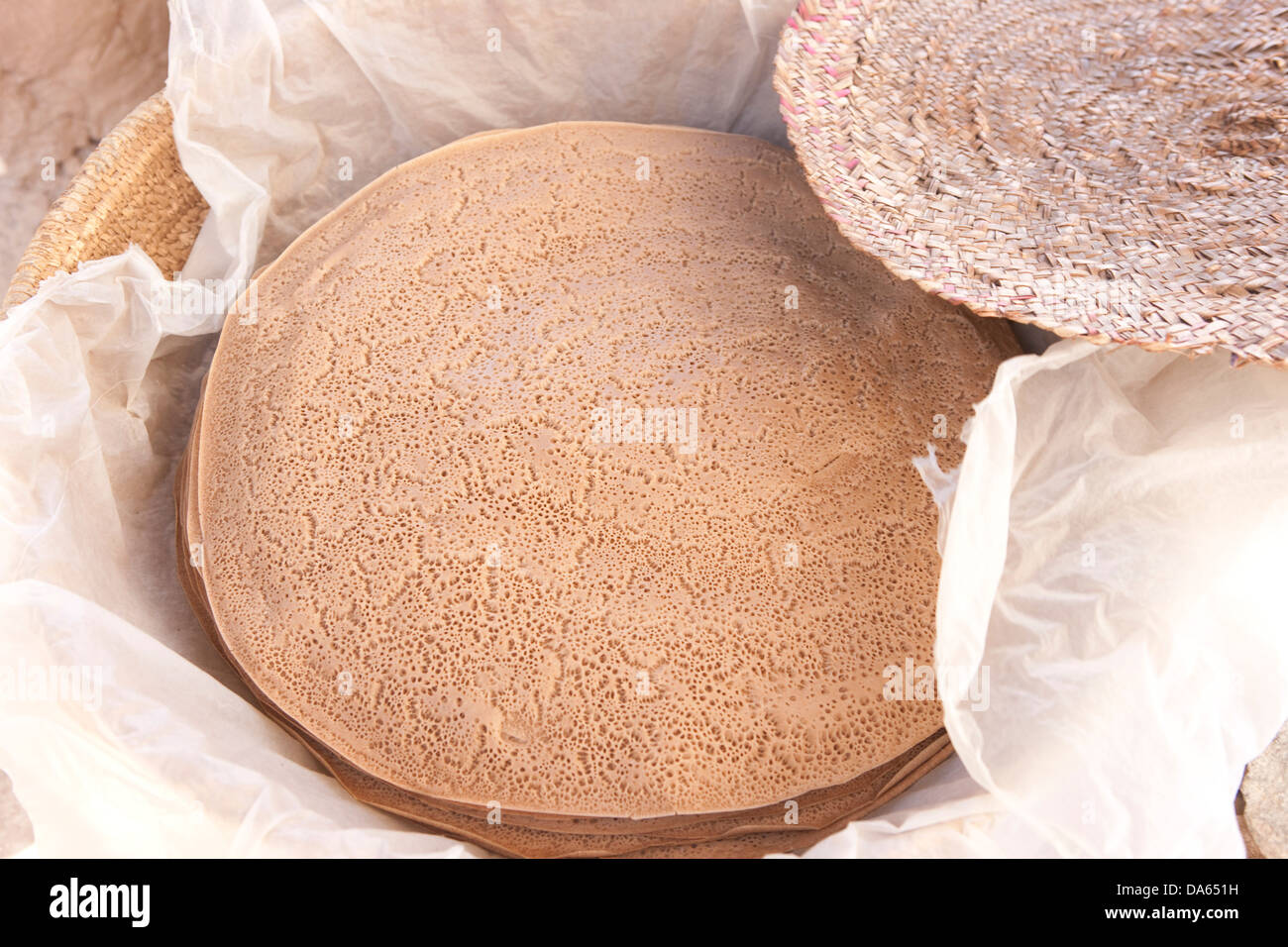 Production, Réalisation, cour, lave, l'Injera, supérette, traditionnellement, l'Éthiopie, Photo Stock