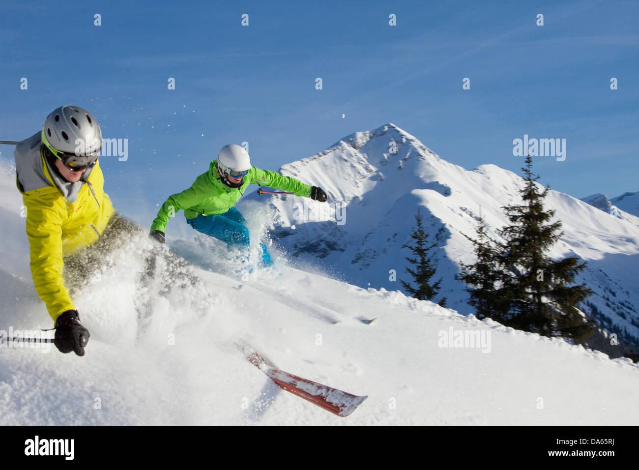 Ski, sports d'hiver, Gstaad, ÊTRE, randonnée, montagne, hiver, sports d'hiver, canton, Berne, Photo Stock