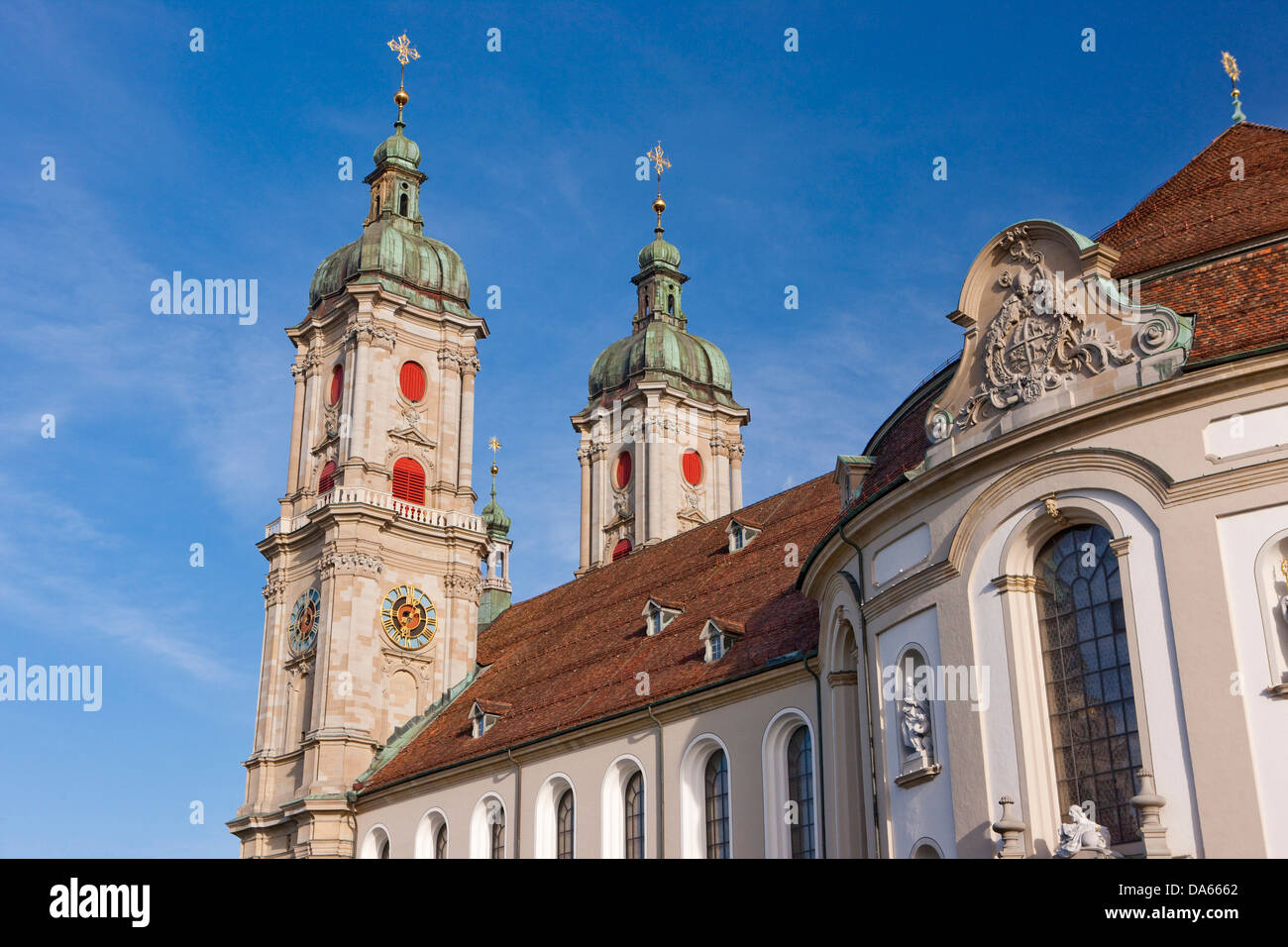 Cloître, Saint-Gall, église, religion, village, ville, canton, SG, Saint-Gall, Suisse, Europe, clochers Photo Stock