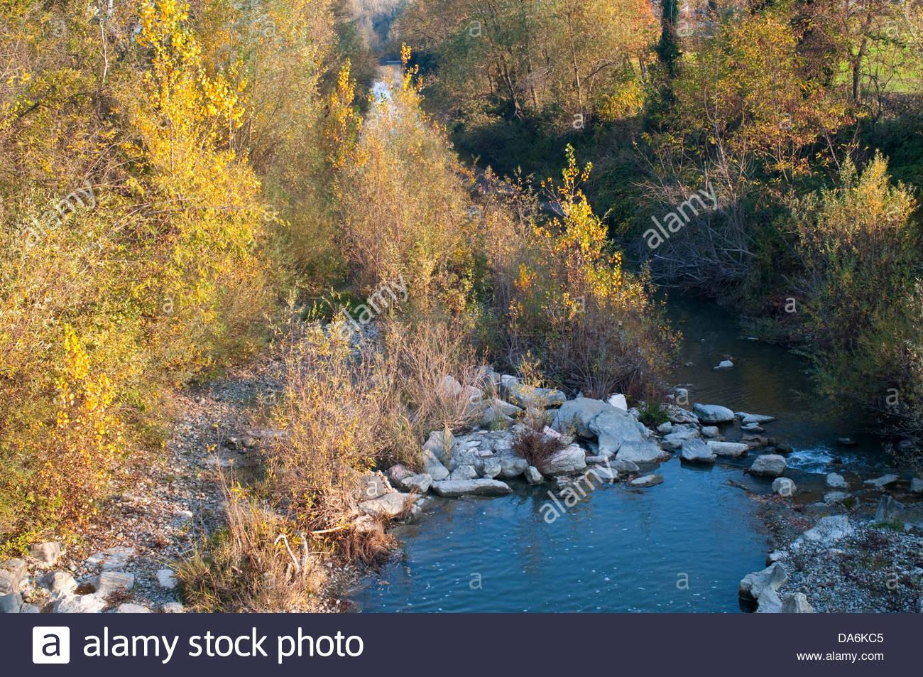 Fleuve idice Toscane,Italie,apennins émiliens Photo Stock