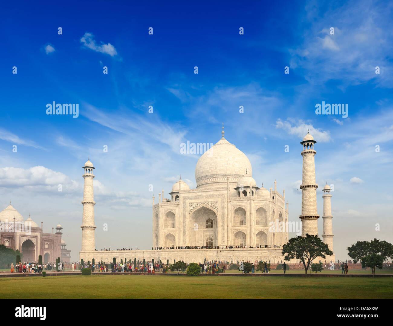 Taj Mahal. Symbole indien - Inde billet d'arrière-plan. Agra, Inde Photo Stock