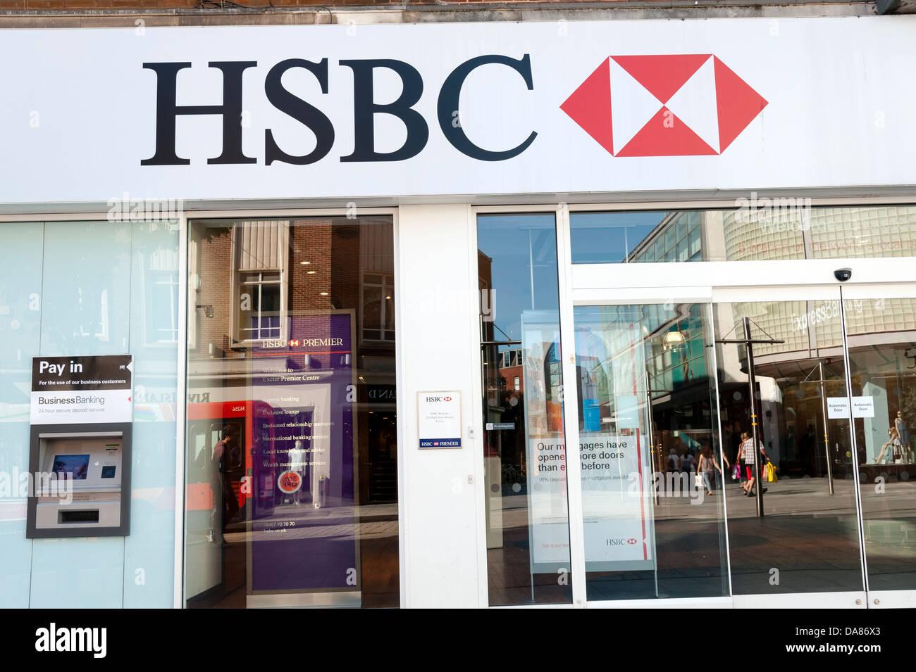La banque HSBC, au Royaume-Uni. Photo Stock