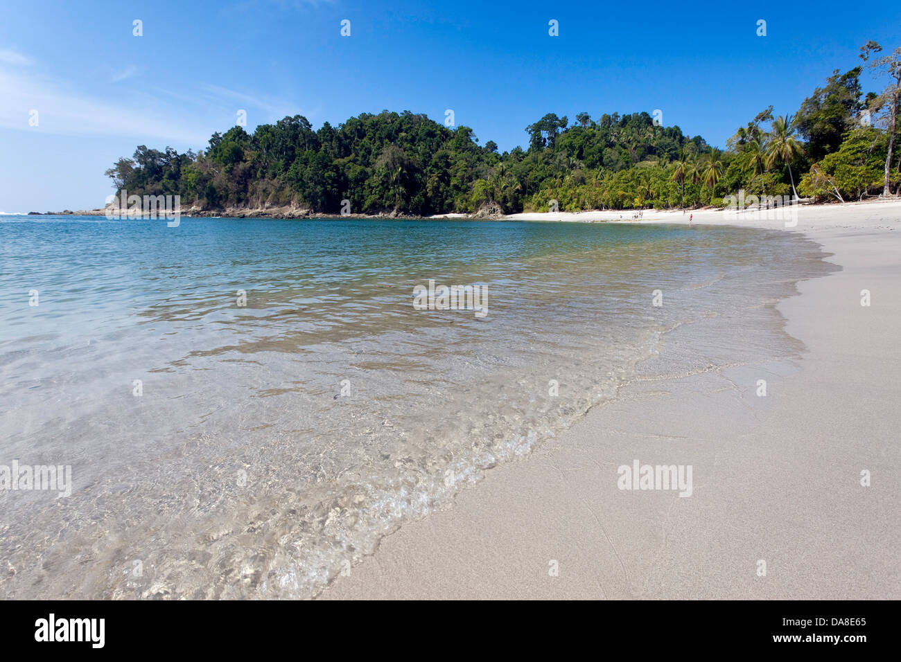 Plage vierge, Parc National Manuel Antonio, Costa Rica Photo Stock